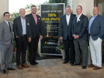 High Hotels Ltd. commissioned the first 100% solar Marriott in U.S.
