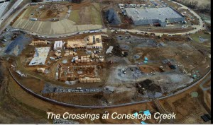 The Crossings aerial video featuring multi-family and Wegmans