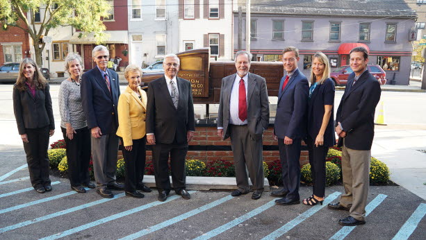 The High Family erected a bronze monument of a 1929 REO Speedwagon, the company's original vehicle, at the site of its original location on Lemon Street in Lancaster, Pa