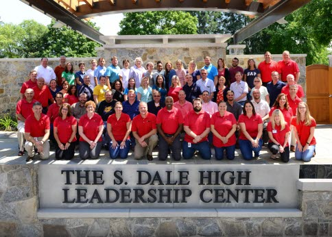 Educators and High co-workers pose at The S. Dale High Leadership Center following the successful conclusion of the 2017 Rational Career Exploration Program.