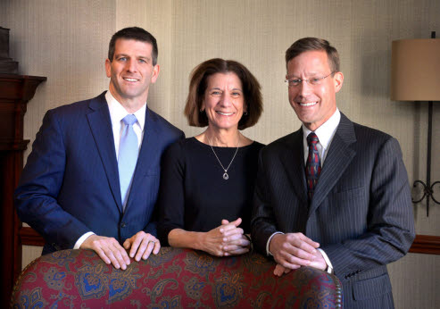 From left, Mike Shirk, chief executive officer of the High companies, Paula Crowley, chair-elect of the High boards, and Greg High of The High Family Council.