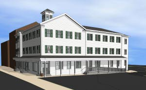 Rendering of Declaration House, a new community service hub coming to Denver, Pa.