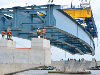 High Steel Structures fabricated about 50,000 tons of steel for the Mario M. Cuomo (Tappan Zee) Bridge.