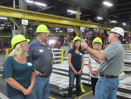 Teachers tour High Steel Service Center as part of the Rational Career Exploration Externship.