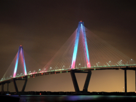 Arthur Ravenel Bridge at Night
